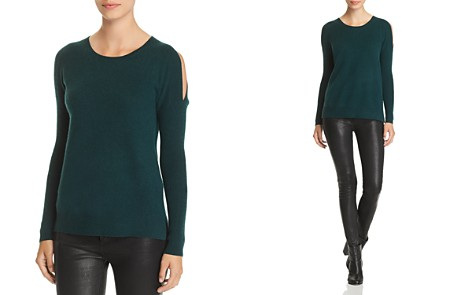 C by Bloomingdale's Cold-Shoulder Cashmere Sweater - 100% Exclusive _2