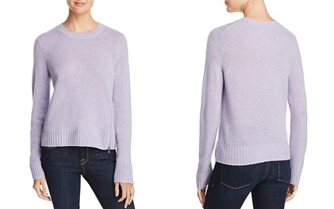 AQUA Cashmere Zip Detail Donegal Cashmere Sweater - 100% Exclusive - Bloomingdale's_2