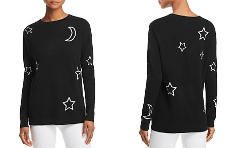 AQUA Cashmere Moon & Stars Cashmere Sweater - 100% Exclusive - Bloomingdale's_2