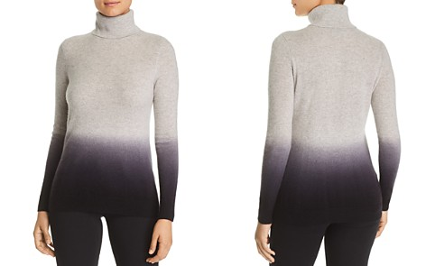 C by Bloomingdale's Dip-Dye Cashmere Turtleneck Sweater - 100% Exclusive _2