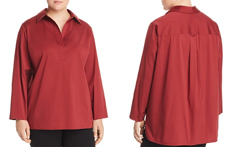 Lafayette 148 New York Plus Beckett Collared Henley Blouse - Bloomingdale's_2