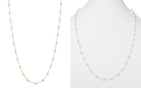 "Bloomingdale's Cultured Freshwater Pearl Long Station Necklace in 14K Yellow Gold, 31"" - 100% Exclusive _2"
