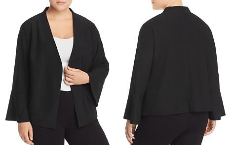 Adrianna Papell Plus Crepe Bell-Sleeve Jacket - Bloomingdale's_2