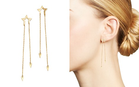 Moon & Meadow Star & Arrow Chain Drop Earrings in 14K Yellow Gold - 100% Exclusive - Bloomingdale's_2
