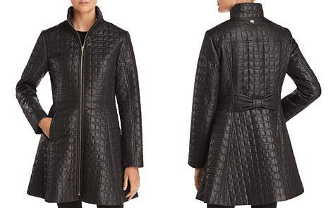 kate spade new york A-Line Bow-Quilted Coat - Bloomingdale's_2
