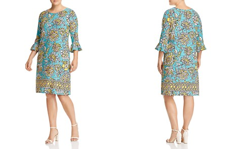 Leota Plus Blake Printed Bell-Sleeve Dress - Bloomingdale's_2
