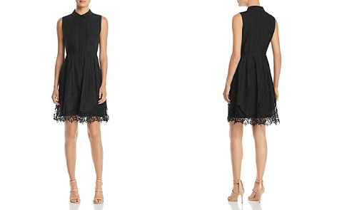 T Tahari Melitta Sleeveless Lace-Trim Dress - 100% Exclusive - Bloomingdale's_2