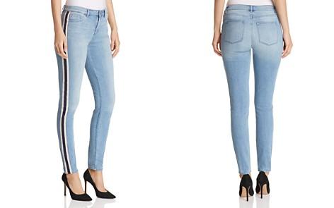 T Tahari Goldie Straight-Leg Track-Stripe Jeans in Light Wash - Bloomingdale's_2