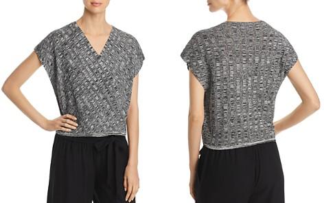 Eileen Fisher Petites Faux-Wrap Knit Box Top - Bloomingdale's_2