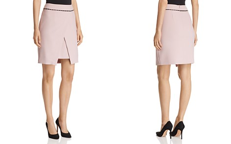 Emporio Armani Studded Crossover Pencil Skirt - Bloomingdale's_2