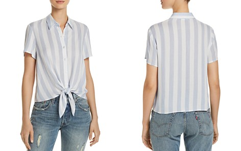 FORE Stripe Button-Down Cropped Shirt - Bloomingdale's_2