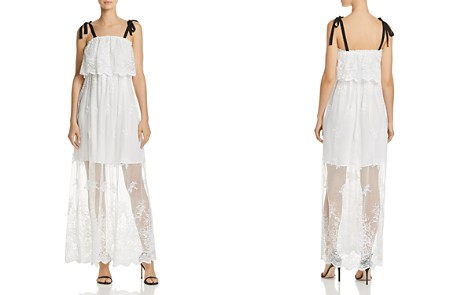 AQUA Ruffled Embroidered Maxi Dress - 100% Exclusive - Bloomingdale's_2