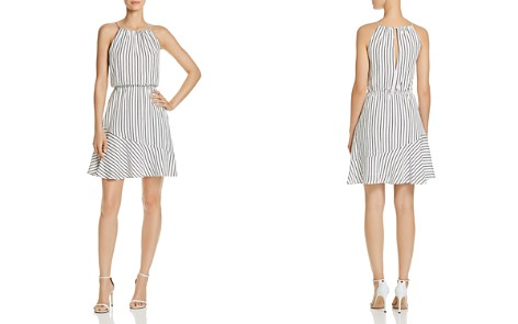 AQUA Stripe Fit-and-Flare Dress - 100% Exclusive - Bloomingdale's_2