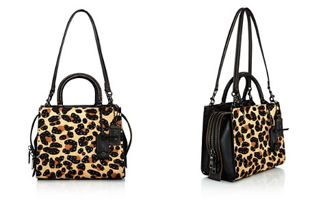 COACH 1941 Rogue Leopard Print Calf Hair Shoulder Bag - Bloomingdale's_2