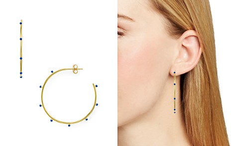 Argento Vivo Enamel Studded Hoop Earrings - Bloomingdale's_2