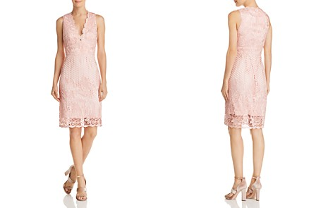 Laundry by Shelli Segal Sleeveless V-Neck Lace Dress - 100% Exclusive - Bloomingdale's_2