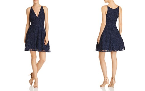 AQUA Floral Appliqué Dress - 100% Exclusive - Bloomingdale's_2
