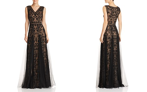 Tadashi Shoji Sleeveless Embroidered-Mesh Gown - Bloomingdale's_2