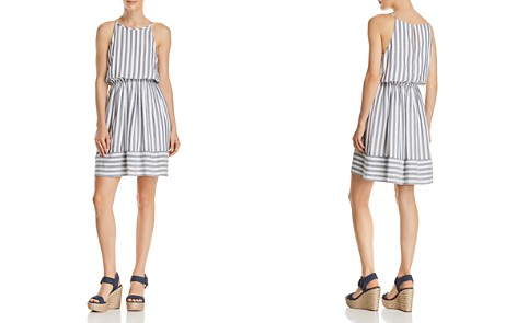 AQUA Striped Fit-and-Flare Dress - 100% Exclusive - Bloomingdale's_2