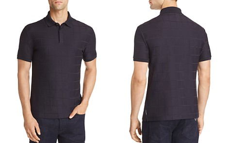 Emporio Armani Windowpane Textured Jersey Polo Shirt - Bloomingdale's_2