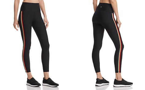 Spiritual Gangster High-Waist Striped-Trim Leggings - Bloomingdale's_2