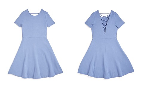 AQUA Girls' Crisscross-Back Skater Dress, Big Kid - 100% Exclusive - Bloomingdale's_2