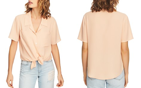 1.STATE Short-Sleeve Tie-Waist Top - Bloomingdale's_2