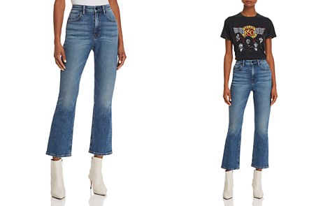 T by Alexander Wang Cult Crop Straight Jeans in Light Indigo - Bloomingdale's_2