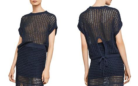BCBGMAXAZRIA Open-Knit Tie-Back Sweater - Bloomingdale's_2