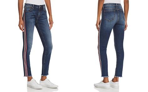 AQUA Side-Stripe Skinny Jeans in Medium Wash - 100% Exclusive - Bloomingdale's_2