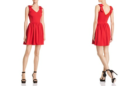 AQUA Bow Detail Fit-and-Flare Dress - 100% Exclusive - Bloomingdale's_2