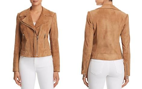 Elie Tahari Angalie Suede Moto Jacket - Bloomingdale's_2
