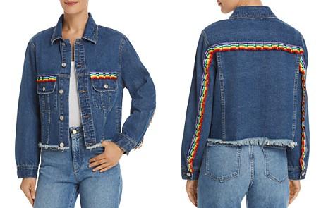 Sunset + Spring Rainbow-Trim Denim Jacket - 100% Exclusive - Bloomingdale's_2