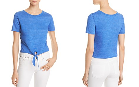 ALTERNATIVE Tie-Front Cropped Tee - 100% Exclusive - Bloomingdale's_2