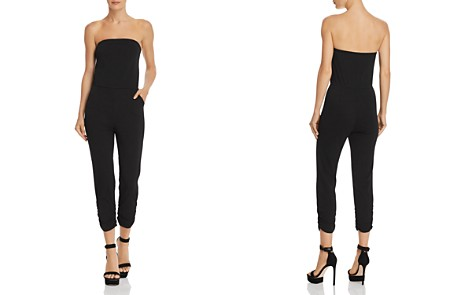 AQUA Strapless Ruched Jumpsuit - 100% Exclusive - Bloomingdale's_2