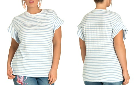 City Chic Plus Daydream Striped Flutter Tee - Bloomingdale's_2