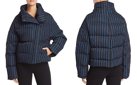 Theory Striped Down Puffer Coat - Bloomingdale's_2