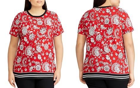 Lauren Ralph Lauren Plus Floral-Print Border Tee - Bloomingdale's_2
