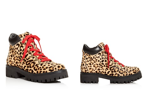 AQUA Knox Women's Round-Toe Leopard-Print Lace Up Booties - 100% Exclusive - Bloomingdale's_2
