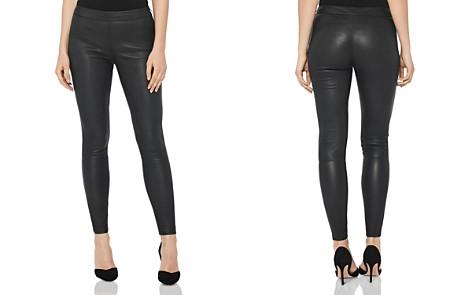 REISS Goldie Leather Leggings - Bloomingdale's_2