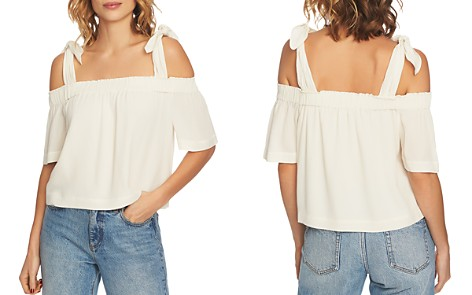 1.STATE Knotted Cold-Shoulder Blouse - Bloomingdale's_2