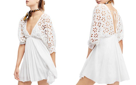 Free People Bella Note Eyelet Mini Dress - Bloomingdale's_2