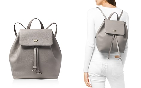 MICHAEL Michael Kors Junie Medium Leather Flap Backpack - Bloomingdale's_2