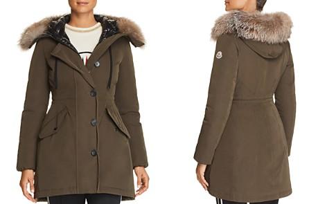 Moncler Monticole Fur Trim Down Coat - Bloomingdale's_2