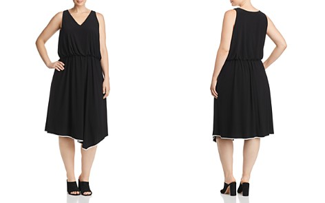 Adrianna Papell Plus Jersey Handkerchief-Hem Dress - Bloomingdale's_2