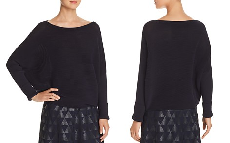 Lafayette 148 New York Ribbed Dolman Top - Bloomingdale's_2