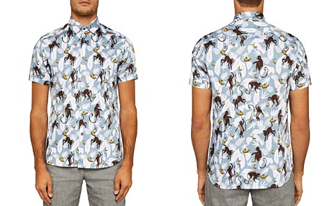 Ted Baker Glovers Monkey Regular Fit Button-Down Shirt - Bloomingdale's_2
