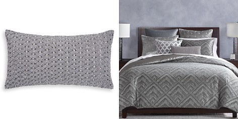 """Hudson Park Collection Woven Diamond Embellished Decorative Pillow, 12"""" x 22"""" - 100% Exclusive - Bloomingdale's_2"""