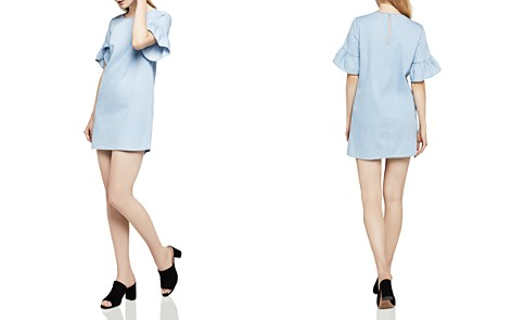 BCBGeneration Ruffle-Sleeve Denim Shift Dress - Bloomingdale's_2