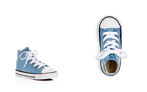 Converse Girls Chuck Taylor All Star Glitter High Top Sneakers - Baby, Walker, Toddler - Bloomingdale's_2